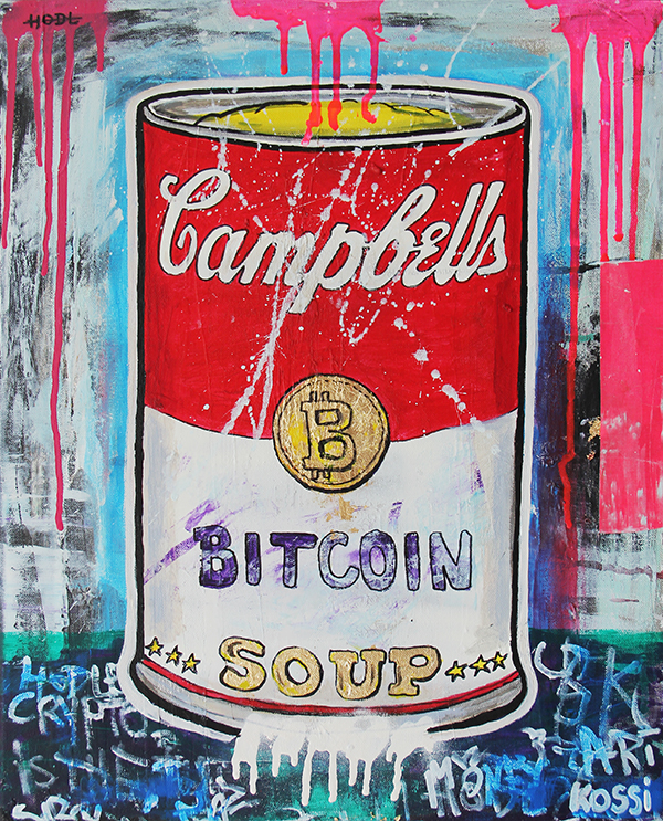 Andy Warhol inspired Bitcoin Cambells Soup